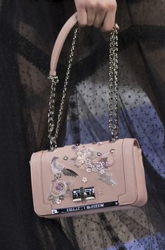 at Paris Fashion Week Spring 2019 - Details Runway Photos Source by PrettyChicago bagsShiatzy Chen at Paris Fashion Week Spring 2019 - Details Runway Photos Source by PrettyChicago bags Green Flower Embroideried Square Cute Purses Chain Shoulder Bag Popular Handbags, Cute Handbags, Cheap Handbags, Handbags On Sale, Purses And Handbags, Latest Handbags, Unique Handbags, Women's Handbags, Handbags Online