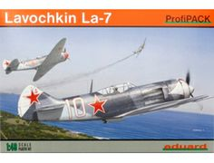 The Eduard Lavochkin La-7 in 1/48 scale from the plastic aircraft model range accurately recreates the real life Russian fighter aircraft flown during World War II. This plastic aircraft kit requires paint and glue to complete.