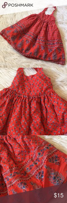 Old Navy Halter Dress - 2T Super Fun and Vibrant Print!  My Little One LOVED Twirling in This Cute Dress.  Great Used Condition...Washed in Machine but Always Hung to Dry.  Snap Closure at Halter Neck.  Bought @ Old Navy. Old Navy Dresses