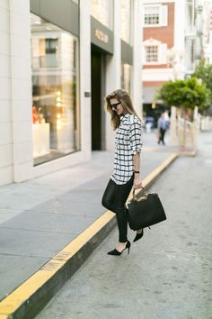 Black and white city look
