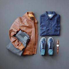 Lambskin Leather Racer Jacket by PLRB Clothing #menswear #mensfashion #sneakers