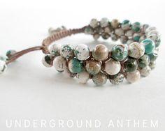 Gemtone Shamballa Bracelet  Gemstone Beaded by UndergroundAnthem, $36.00