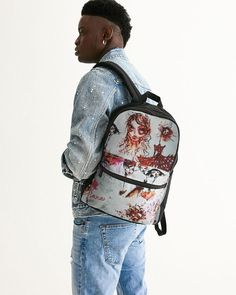 cara Small Canvas Backpack Kids Tops, Small Canvas, Canvas Backpack, Abstract Flowers, Jogger Pants, Mens Tees, Laptop Sleeves, Active Wear, Cool Designs
