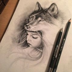 Trendy tattoo wolf girl drawing inspiration Trendy tattoo wolf girl drawing inspiration This image has. Wolf Tattoos, Body Art Tattoos, Wolf Headdress, Headdress Tattoo, Animal Drawings, Art Drawings, Pencil Drawings, Tattoo Geometrique, Wolf Images