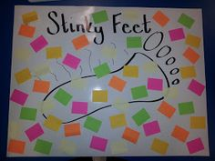 Teaching In The Fast Lane: Making Test Prep Fun Feet Game.each sticky note has a point value. The stinky part is some are positive and some are negative. Ask teams questions, if they answer correctly, they can pick a sticky note. School Classroom, Classroom Activities, Classroom Organization, Classroom Ideas, Classroom Management, Science Classroom, Future Classroom, Class Games, School Games