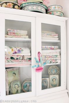 Craft Room Glazed Cabinet | The Villa on Mount Pleasant