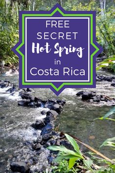 Instructions on how to find the free secret hot spring near Arenal Volcano in Costa Rica. Most hotels have monopolized the hot springs in tourist locations so you need to follow the locals and find the free hot springs. It's more fun that way too!