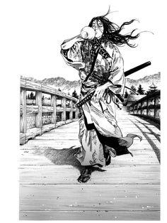 Sumi - Vagabond Illustration Collection  Fictional account of the legendary samurai Miyamoto Musashi  Artist: Takehiko Inoue