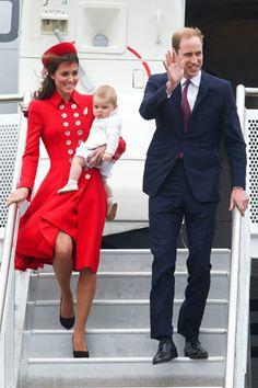 Kate Middleton wears Diana's favourite designer to begin Royal tour
