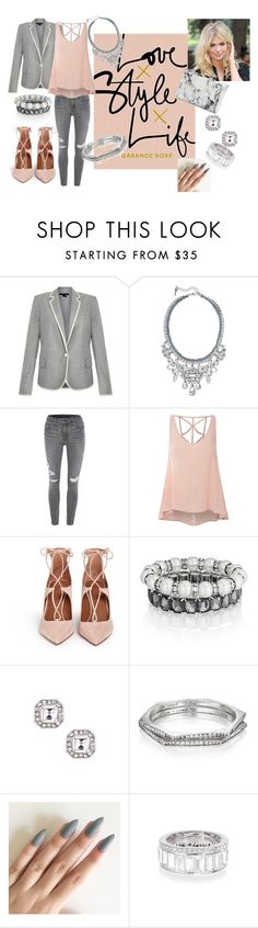 """""""Love style life... chloe and isabel style"""" by christina-coto on Polyvore featuring Theory, Chloe + Isabel, Glamorous, Aquazzura, Balenciaga, Pink and chloeandisabel"""