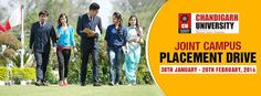 'Joint Campus Placement Drive' - An industrial exposure from renowned top MNC's are on their way to pick up the most deserving and passionate students.   CU's joint placement drive goes from 30th January to 20th February,2014.