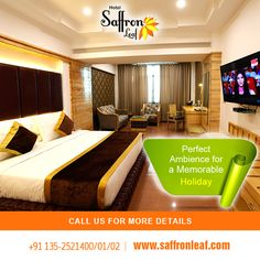 Perfect ambience for a memorable holiday. Visit Us at: www.saffronleaf.com Or Call Us at: +91 135-2521400/01/02