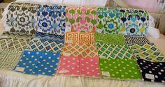 New bedding fabrics from ld linens & decor.  Dorm sets available.