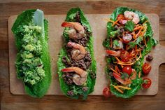 Surf and Turf Paleo Tacos. Here, lettuce leaves stand in for tortillas.