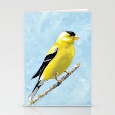 I love birds and this sweet little goldfinch is a perfect pop of bright color for a gallery wall or any small space.