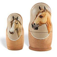 Horse Portrait Russian Nesting Dolls from Uno Alla Volta on Catalog Spree, my personal digital mall.