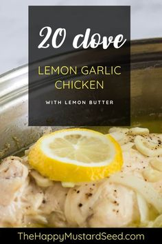 This lemon garlic chicken is an easy weeknight recipe that is delicious and packed full of flavor. The garlic and lemon butter allows for the chicken to bathe in flavor. I have been making this recipe for over 22 years! Lemon Sauce For Chicken, Lemon Garlic Chicken, Rosemary Chicken, Baked Chicken, Chicken Recipes, Delicious Dinner Recipes, Yummy Food, Grilled Pineapple Chicken, Healthy Chicken Casserole