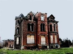 Image result for abandoned mansion Detroit