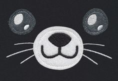 Noggin Nanimals - Kitty Face (Applique) | Urban Threads: Unique and Awesome Embroidery Designs