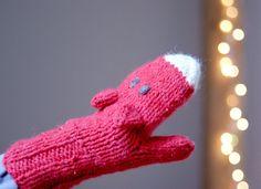 Fox mittens Warm playful accessories for by YarnBallStories