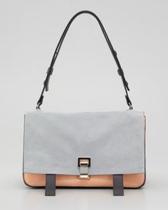 PS Courier Shoulder Bag, Gray/Pink by Proenza Schouler at Neiman Marcus. $2490