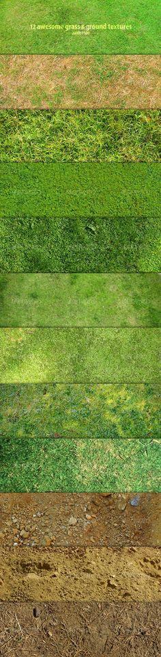 12 Awesome grass & ground textures - GraphicRiver Item for Sale: Architecture Drawings, Landscape Architecture, Landscape Design, Autocad, Plan Maestro, Planer Layout, Modelos 3d, Montage Photo, 3d Studio
