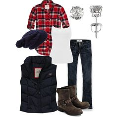 A fashion look from December 2012 featuring Abercrombie & Fitch tops, Warehouse tops and Hollister Co. vests. Browse and shop related looks.
