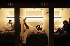 Relax At The Millennials Kyoto - World's First Spacious Capsule Hotel - part 2 Futons, Sleep Box, Shared Bathroom, Comfort Mattress, Cheap Hotels, Fukuoka, Good And Cheap, Japan Travel, Minimalist Architecture