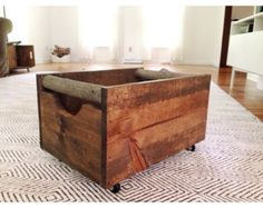 Small Wooden Storage Crate Rustic Box by RedBarnCollective on Etsy