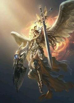 artstation - league of angels Dark Fantasy Art, Fantasy Kunst, Fantasy Women, Fantasy Girl, Fantasy Artwork, Angel Warrior, Fantasy Warrior, Fantasy Creatures, Mythical Creatures