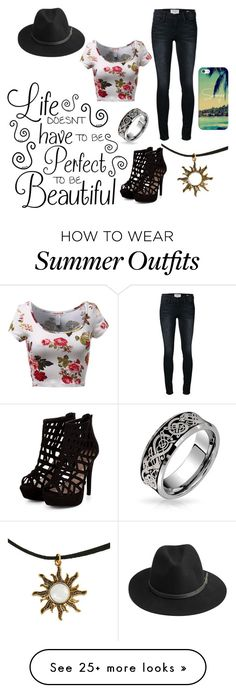 """""""Outfit #497"""" by cheshirecatin-neverland on Polyvore featuring Frame Denim, BeckSöndergaard, Bling Jewelry, Casetify, women's clothing, women's fashion, women, female, woman and misses"""