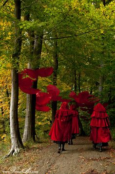 Little Red Riding Hood and her sisters . Writing Inspiration, Character Inspiration, Portfolio Pictures, The Mind's Eye, Fairytale Fashion, Red Hood, Silhouette, Red Riding Hood, Little Red