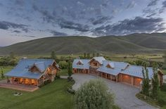 not to belittle anyone, but we hardly think any of our readers will be keen in snapping up this ranch once owned by the King of Cool, Steve McQueen. spanning some 500 acre, the Pioneer Moon Ranch Log Cabins For Sale, Log Cabin Kits, Cabins In The Woods, Steve Mcqueen, Le Ranch, Wood River, Ranches For Sale, Guest Ranch, H & M Home