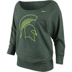 Nike Michigan State Spartans Women's Lazy Day Boatneck Collar Sweatshirt