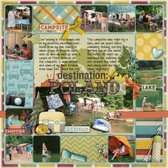 Destination: Poland Call o' the Wild (Caravan & Camp) by Digilicious Design Scraplift of Home is Where Love is digital scrapbooking layout, outdoors, camping, mistyhilltops.com