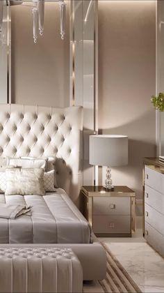 Modern Luxury Bedroom, Luxury Bedroom Design, Room Design Bedroom, Bedroom Furniture Design, Luxurious Bedrooms, Interior Design, Bedroom Interiors, Bed Headboard Design, Luxury Decor