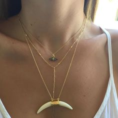 14K Gold Filled Bar Drop Down Necklace