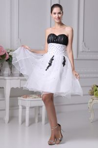 Sweetheart Beaded Pageant Dress in Black and White Patterns in El Mirage