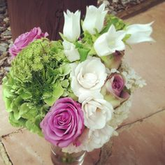 Here's one of Camille's bridesmaids bouquets.  #breckwedding