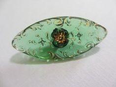 Glass Lacy Spinkle button from WRBA (Western Regional Button Association) website. #buttonlovers