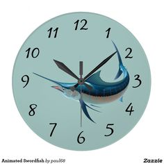 Animated Swordfish Clocks
