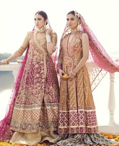 What a breathtakingly beautiful collection by - hands down 🙌 Pakistani Bridal Couture, Asian Wedding Dress Pakistani, Pakistani Formal Dresses, Indian Bridal Wear, Pakistani Dress Design, Pakistani Outfits, Indian Dresses, Bridal Mehndi Dresses, Walima Dress