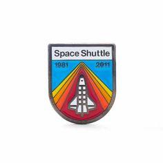 Draplin DDC Space Shuttle Soft Enamel Lapel Pin