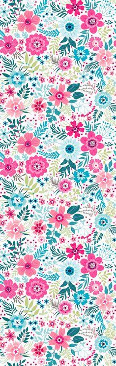 Removable Wallpaper Self Adhesive Wallpaper Cute Colorful Flowers Peel & Stick Wallpaper Nursery Wallpaper
