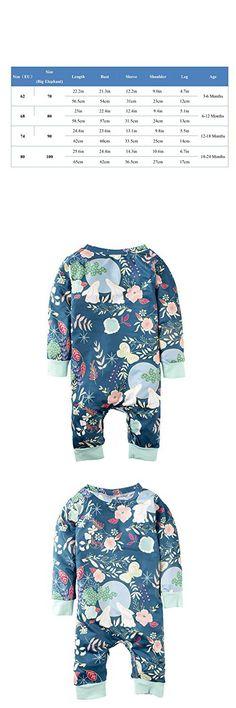 Big Elephant Baby Girls' 1 Piece Butterflies Print Long Sleeve Rompers Jumpsuit K31