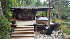 Myydään Mökki tai huvila Kaksio - Kangasniemi Lapinsalon saari - - Etuovi.com 1203581 Gazebo, Pergola, Cabana, Outdoor Spaces, Outdoor Decor, Camping Glamping, Log Homes, Shed, Cottage