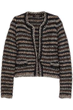 Isabel Marant|Barte striped knitted cardigan|NET-A-PORTER.COM