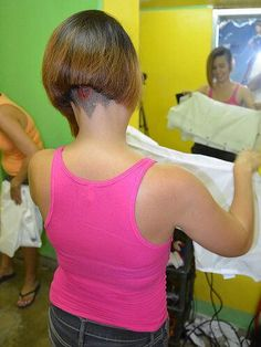 Nape 6 Edgy Haircuts, Great Haircuts, Bob Hairstyles, Shaved Hair Cuts, Shaved Nape, Hair Dye Colors, Hair Color, Shot Hair Styles, Long Hair Styles