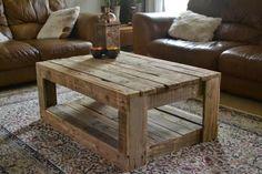 Muebles de palets: Mesa de estilo rústico hecha con palets