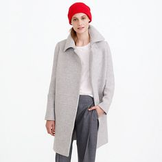 J.Crew - Stadium-cloth drop-waist coat